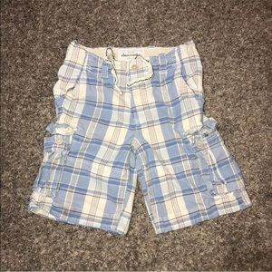 Abercrombie Plaid Shorts Size 14 Youth Button Fly